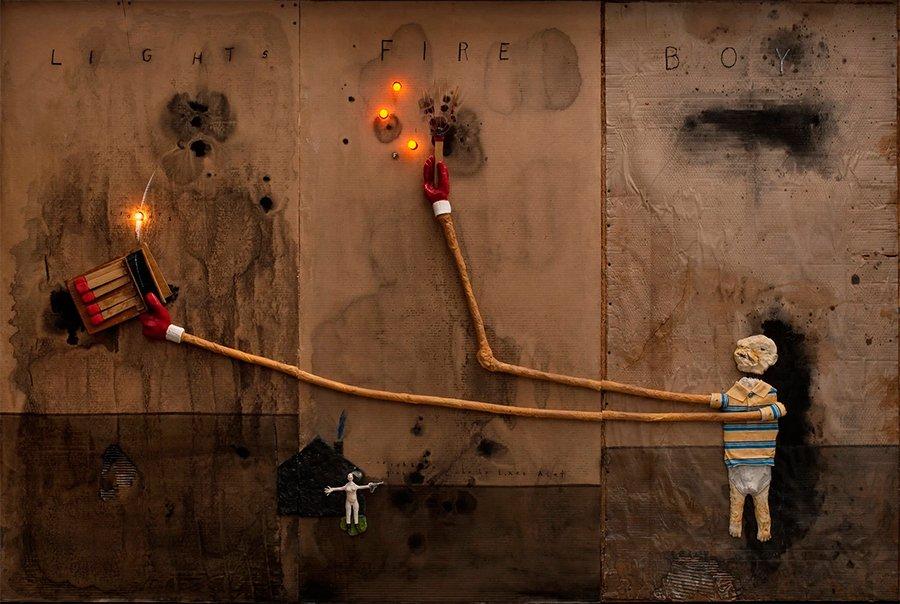 David Lynch art - My head is disconnected