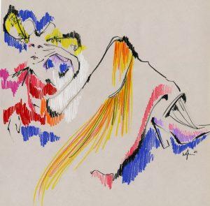 Elly-Azizian-Gerhard-Richter - Drawing Cabaret Couture