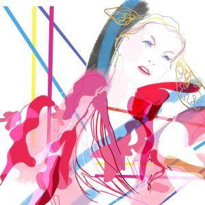 Jean-Warner-Rose-Drawing Cabaret Couture
